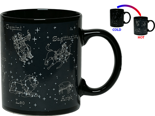 Tasse mit Sternbildern